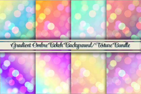 Gradient Bokeh Texture/Backgrounds Graphic Backgrounds By AM Digital Designs