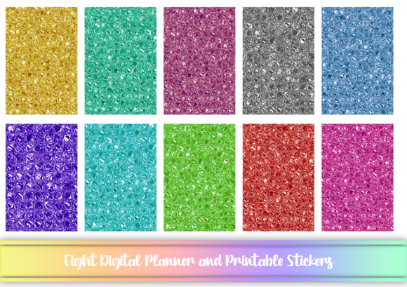 Print on Demand: Gradient Digital and Printable Stickers Graphic Print Templates By AM Digital Designs