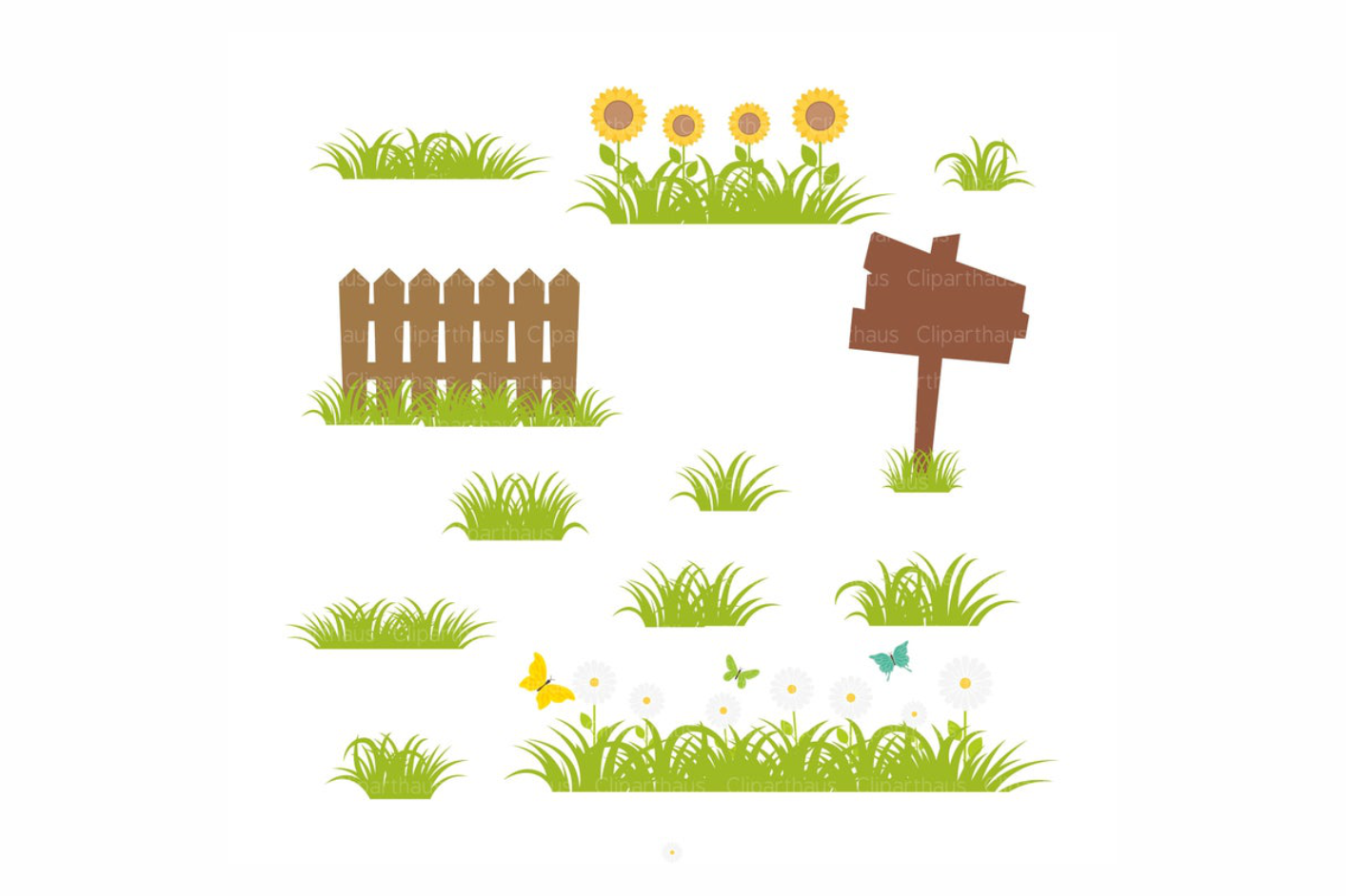 Download Free Grass Clipart Graphic By Svg Den Creative Fabrica for Cricut Explore, Silhouette and other cutting machines.