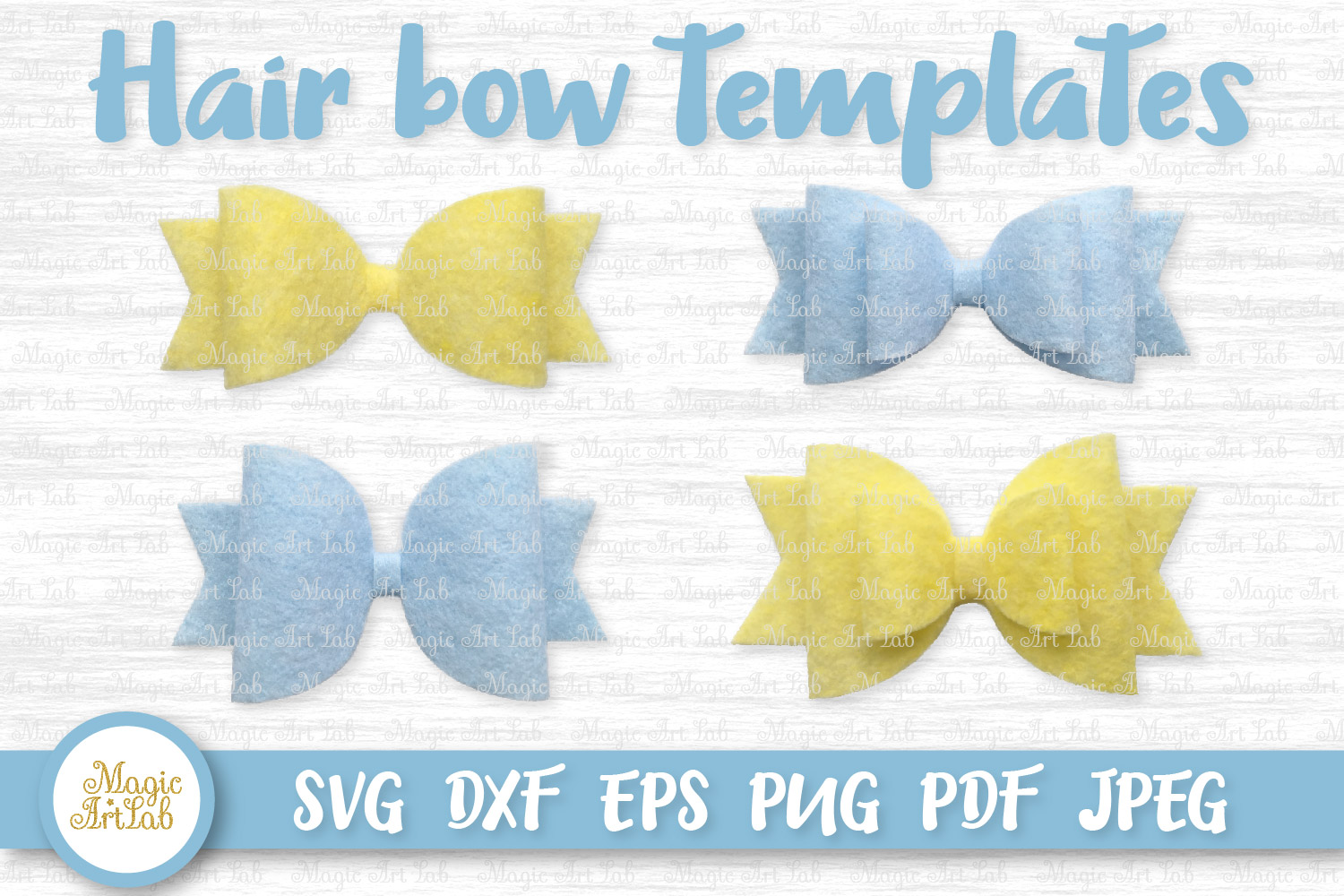 Download Free Hair Bow Svgs Graphic By Magicartlab Creative Fabrica for Cricut Explore, Silhouette and other cutting machines.