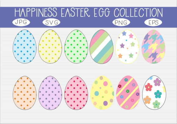 Print on Demand: Happiness Easter Egg  Collection Graphic Illustrations By CapeAirForce