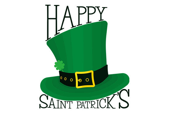 Download Free Happy Saint Patrick S Leprechaun Hat Graphic By Latin Vibes for Cricut Explore, Silhouette and other cutting machines.
