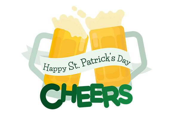 Download Free Happy St Patrick S Day Cheers Beer Graphic By Latin Vibes for Cricut Explore, Silhouette and other cutting machines.