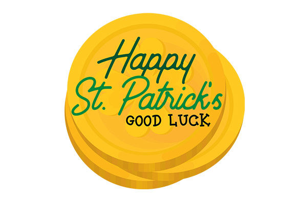 Print on Demand: Happy St. Patrick's Day Good Luck - Coin Graphic Crafts By Latin Vibes