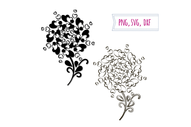 Download Free Hearts Trees Love Clipart Wedding Graphic By Bunart Creative for Cricut Explore, Silhouette and other cutting machines.