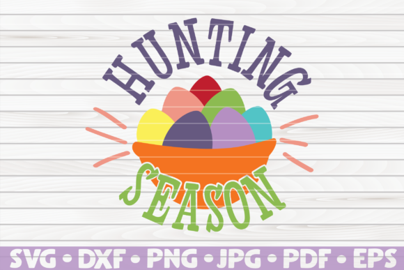 Download Free Hunting Season Cute Easter Vector Graphic By Mihaibadea95 for Cricut Explore, Silhouette and other cutting machines.