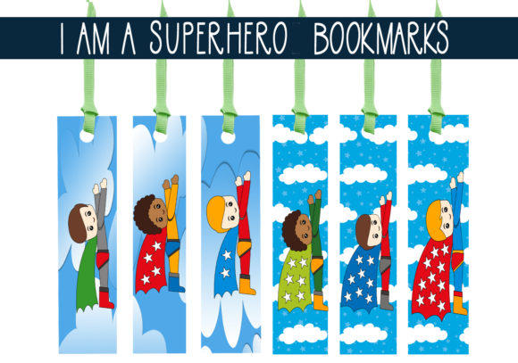 Print on Demand: I Am a Superhero Bookmarks Graphic Print Templates By CapeAirForce