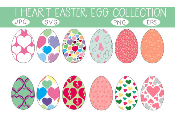 Print on Demand: I Heart Easter Eggs Collection Graphic Illustrations By capeairforce