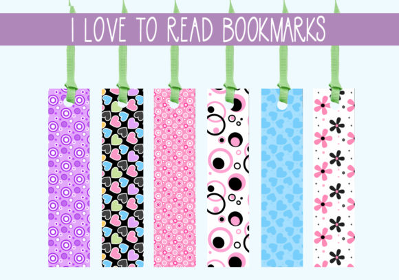 Print on Demand: I Love to Read Bookmarks   #1 Graphic Print Templates By capeairforce