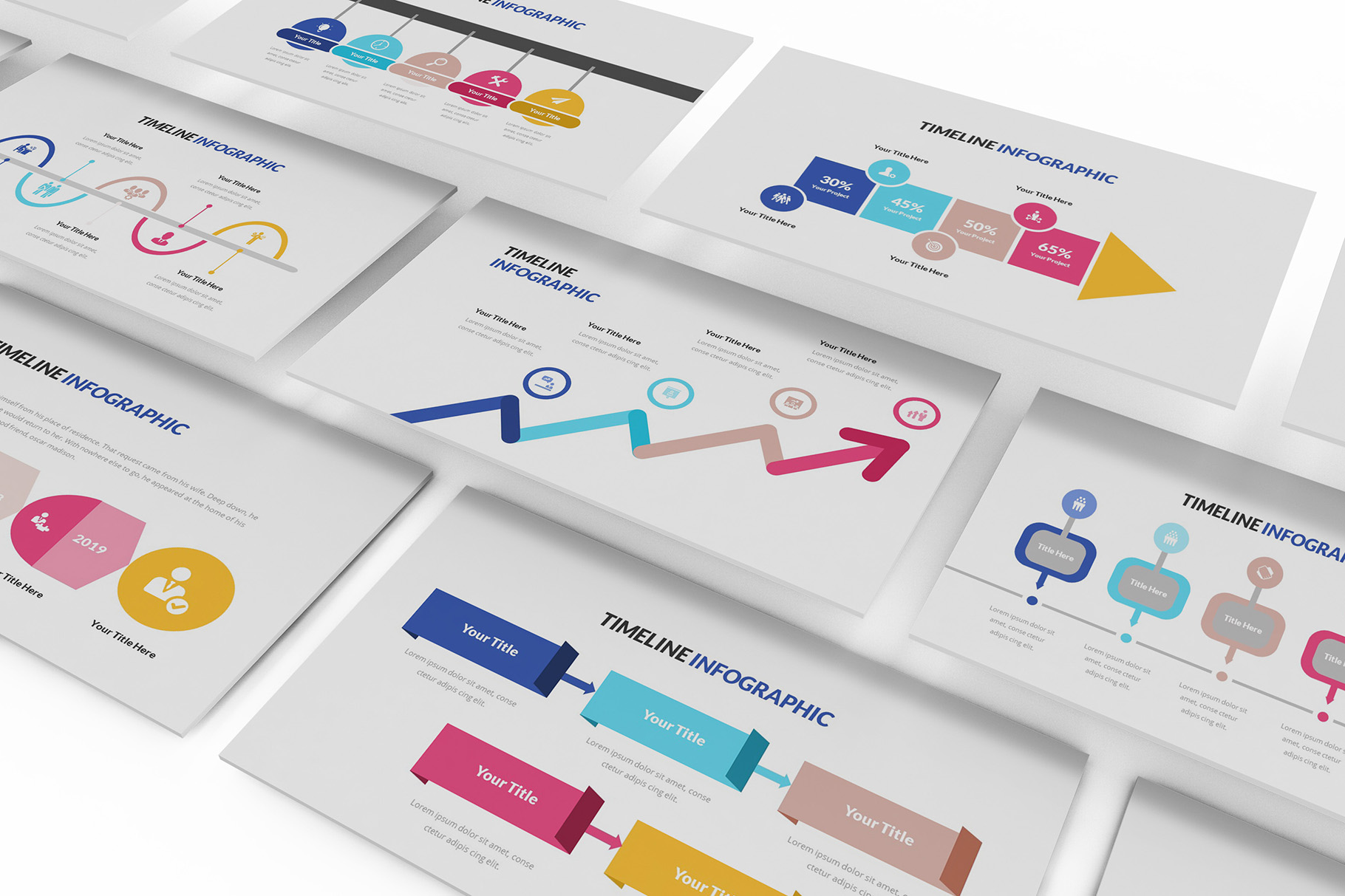Download Free Infographic Timeline Powerpoint Grafico Por Formatikastd for Cricut Explore, Silhouette and other cutting machines.