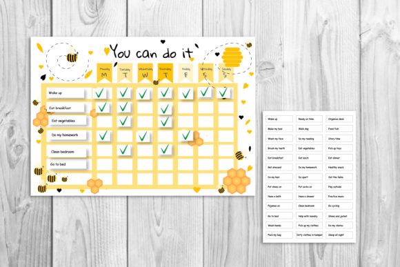 Download Free Kids Planner School Timetable Graphic By Igraphic Studio for Cricut Explore, Silhouette and other cutting machines.