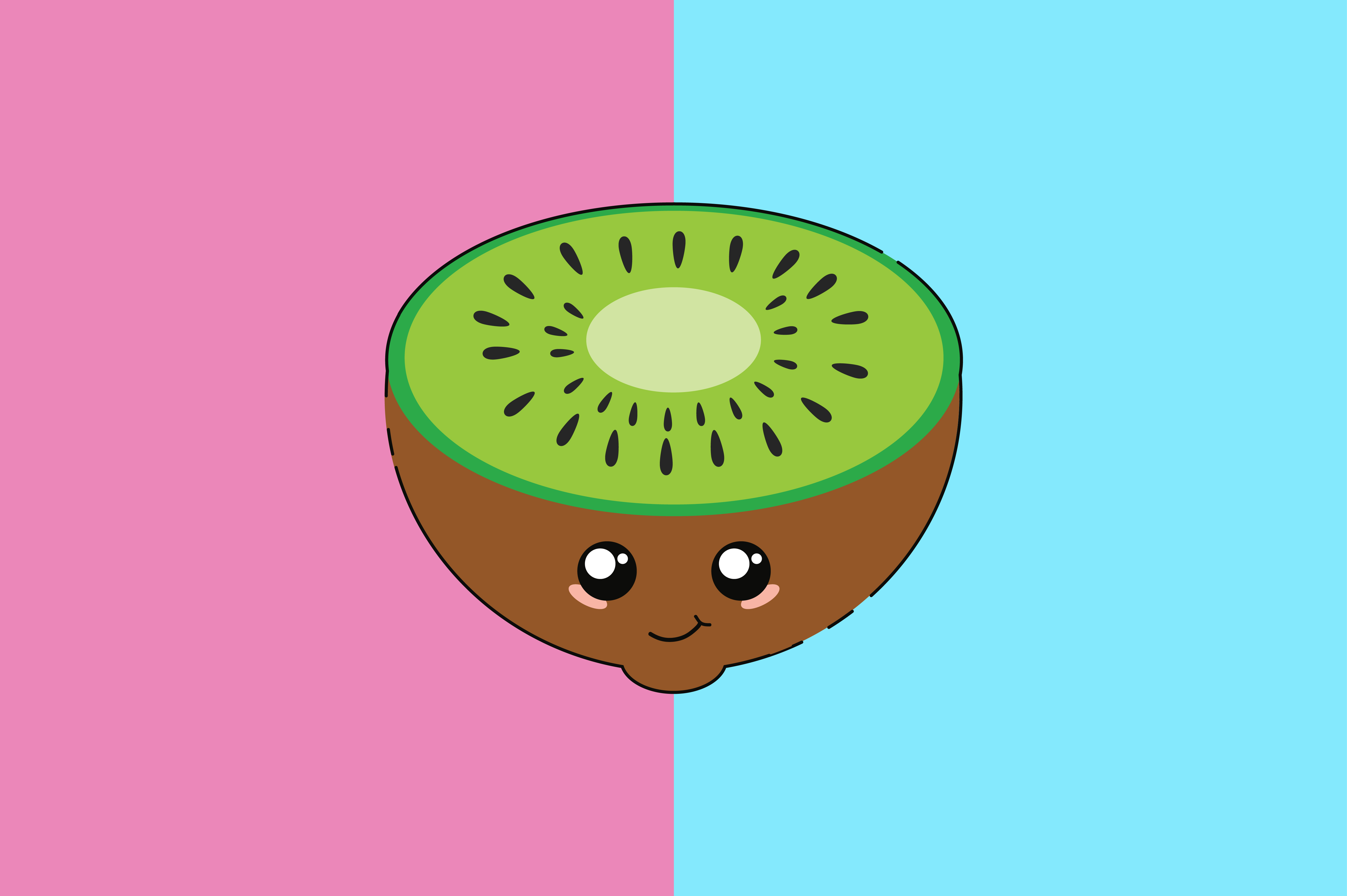 Download Free Kiwi Kawaii Cute Illustration Graphic By Purplebubble Creative Fabrica SVG Cut Files