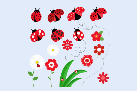 Download Free Ladybird Clipart Graphic By Svg Den Creative Fabrica for Cricut Explore, Silhouette and other cutting machines.