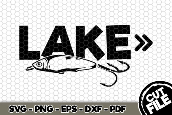 Print on Demand: Lake Sign Graphic Crafts By SVGExpress