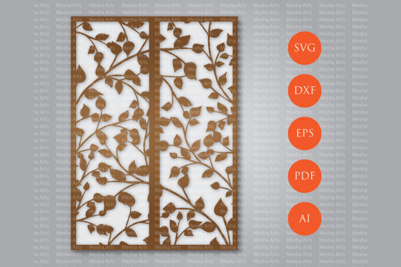 Download Free Leaves Laser Cut Wedding Invitation Grafik Von Meshaarts for Cricut Explore, Silhouette and other cutting machines.