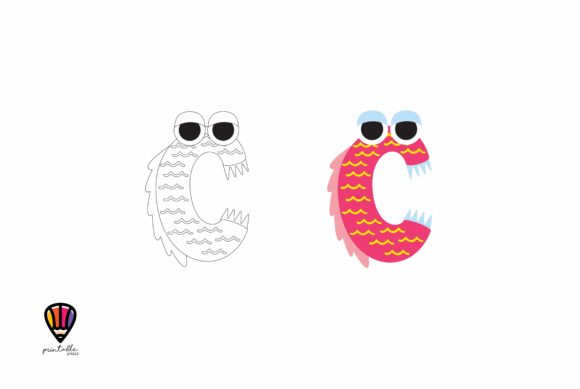 Letter C Graphic Illustrations By printablesplazza