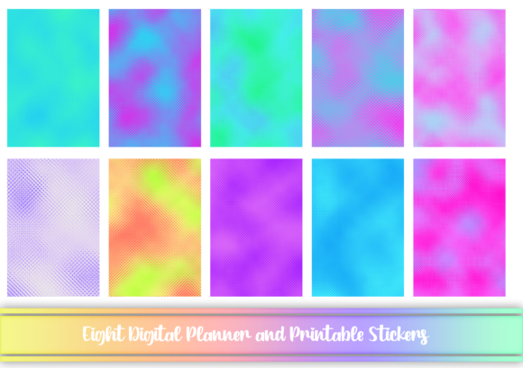 Print on Demand: Liquid Digital and Printable Stickers Graphic Print Templates By AM Digital Designs