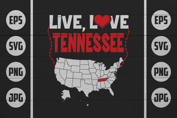 Download Free Live Love Tennessee Graphic By Zaibbb Creative Fabrica for Cricut Explore, Silhouette and other cutting machines.
