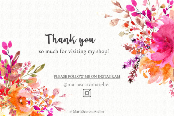 Print on Demand: Lovely Bouquets - Watercolor Graphic Illustrations By MariaScaroniAtelier - Image 6
