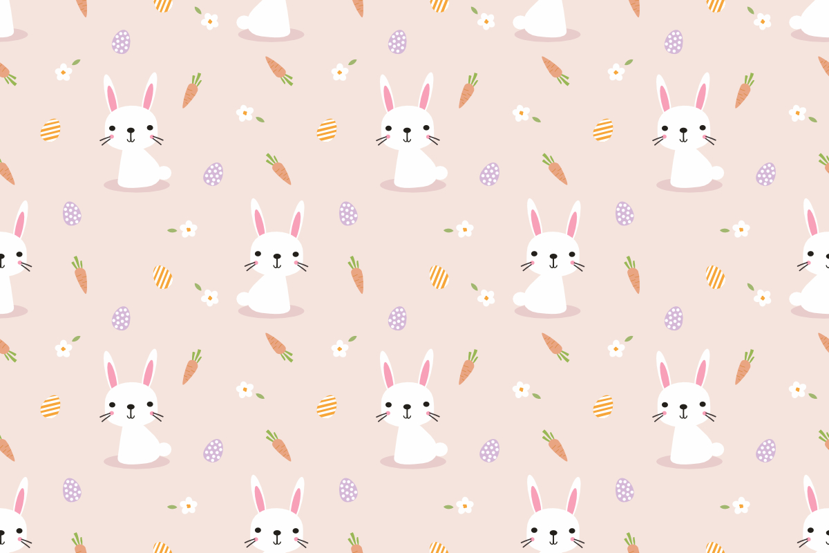 Download Free Lovely Bunny And Easter Seamless Pattern Graphic By Thanaporn for Cricut Explore, Silhouette and other cutting machines.