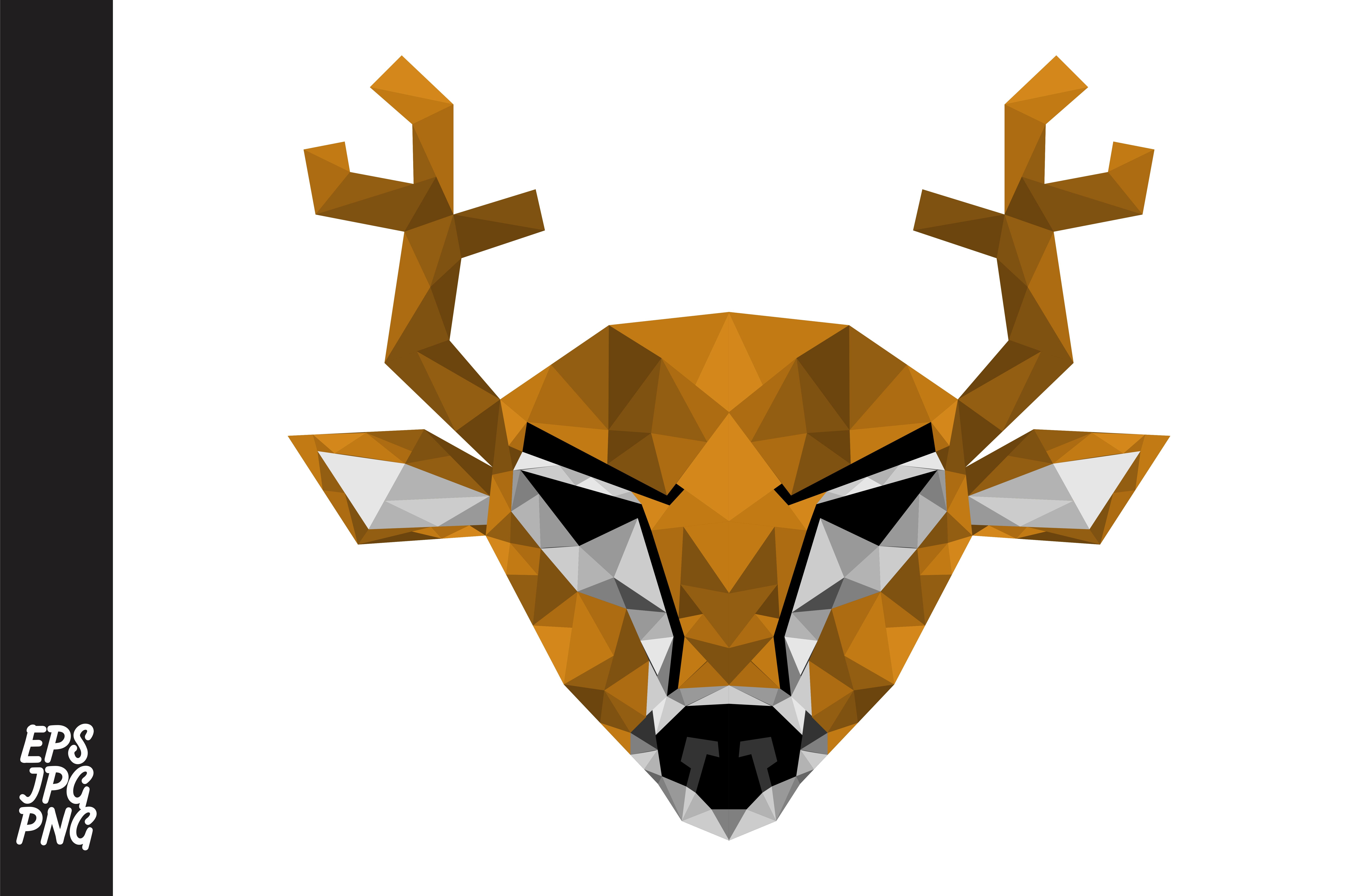 Download Free Low Poly Art Deer Head Vector Graphic By Arsa Adjie Creative for Cricut Explore, Silhouette and other cutting machines.
