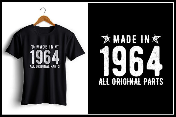 Print on Demand: Made in 1964 All Original Parts Graphic Crafts By Zaibbb