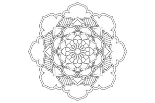 Download Free Mandala Coloring Page Vector Outline Graphic By Graphicsfarm for Cricut Explore, Silhouette and other cutting machines.