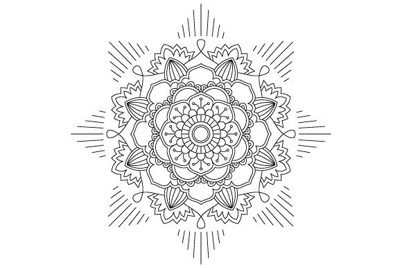 Download Free Mandala Coloring Page Vector Outline Graphic By Graphicsfarm Creative Fabrica for Cricut Explore, Silhouette and other cutting machines.