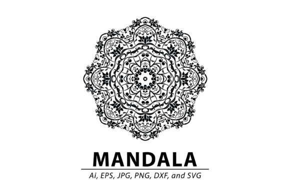 Download Free Mandala Vector Art Pattern 884 Graphic By Redsugardesign for Cricut Explore, Silhouette and other cutting machines.