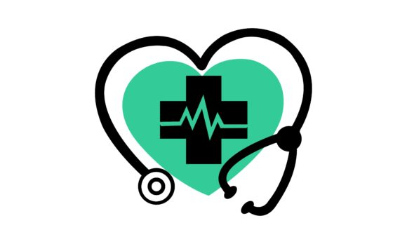 Medical, Stethoscope Heart Logo Graphic Logos By 2qnah