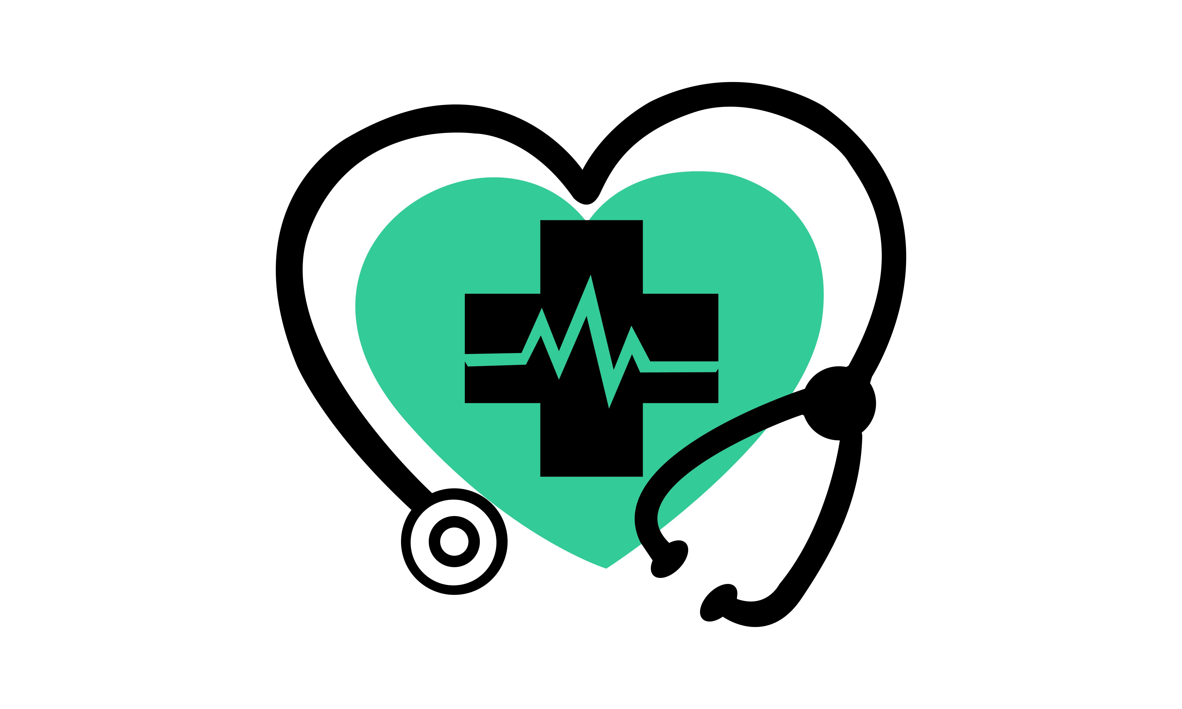 Download Free Medical Stethoscope Heart Logo Graphic By 2qnah Creative Fabrica for Cricut Explore, Silhouette and other cutting machines.