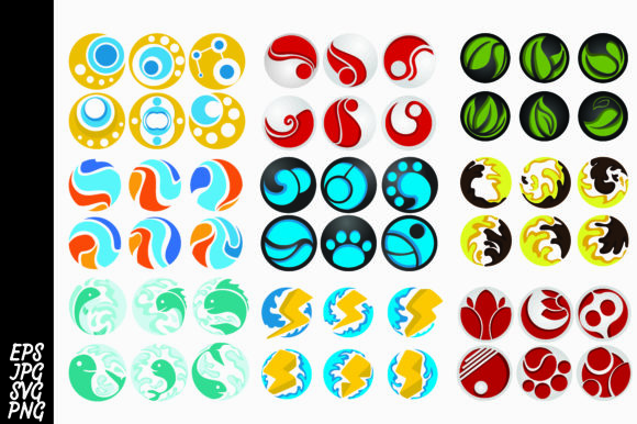 Print on Demand: Mega Bundle 54 Logo Icon Graphic Icons By Arief Sapta Adjie