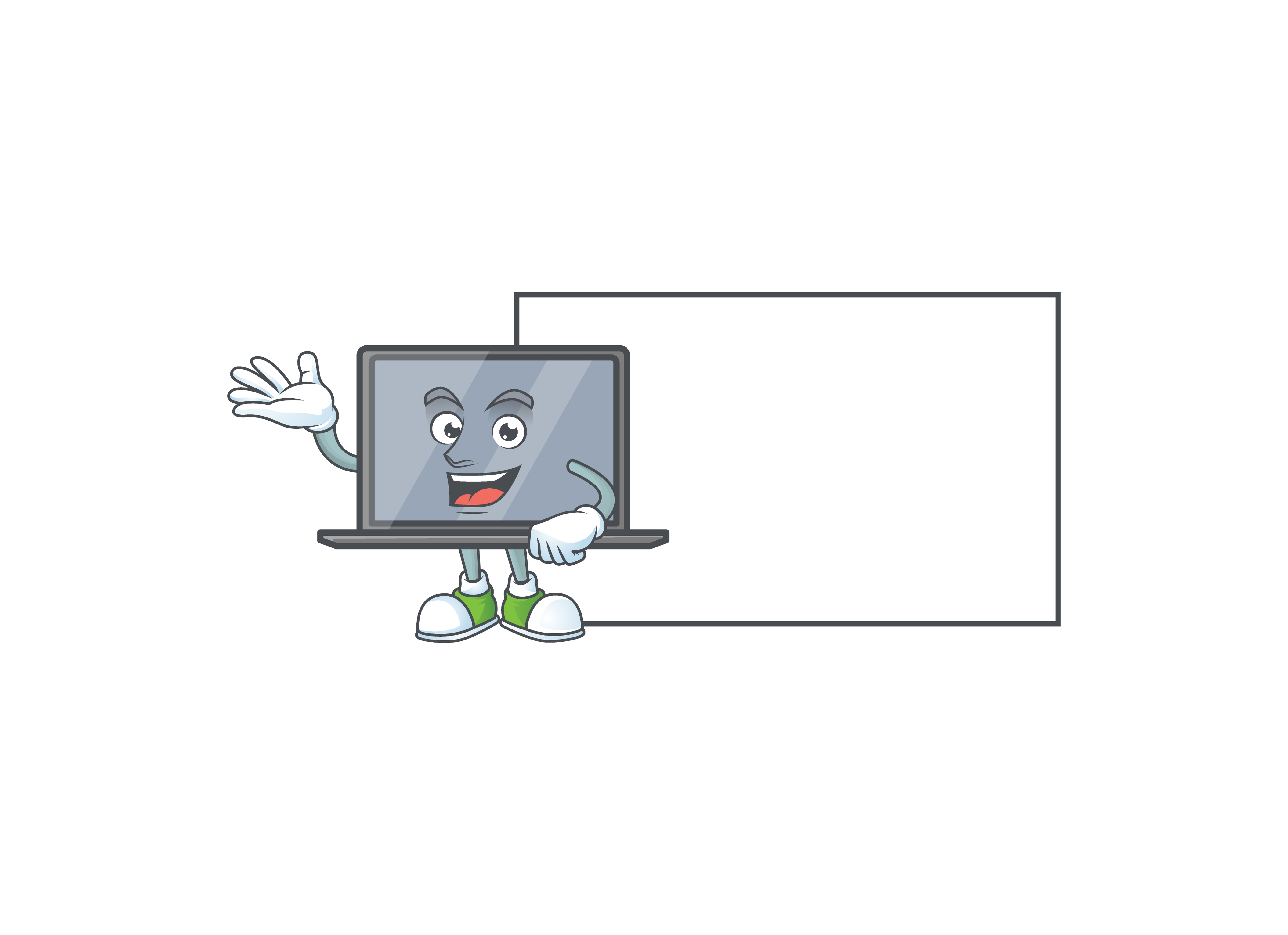 Download Free Monitor Cartoon Character Style Graphic By Kongvector2020 Creative Fabrica for Cricut Explore, Silhouette and other cutting machines.