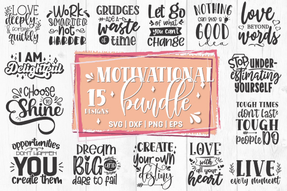 Download Free Motivational Quotes Bundle Graphic By Craft Pixel Perfect for Cricut Explore, Silhouette and other cutting machines.