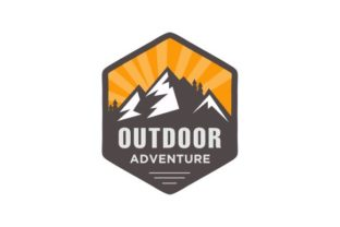 Download Free Mountain Outdoor Logo Badges Emblem Grafico Por Blueberry 99d for Cricut Explore, Silhouette and other cutting machines.