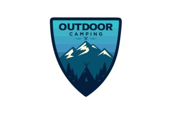Print on Demand: Mountain Outdoor Logo Badges Emblem Graphic Logos By blueberry 99d