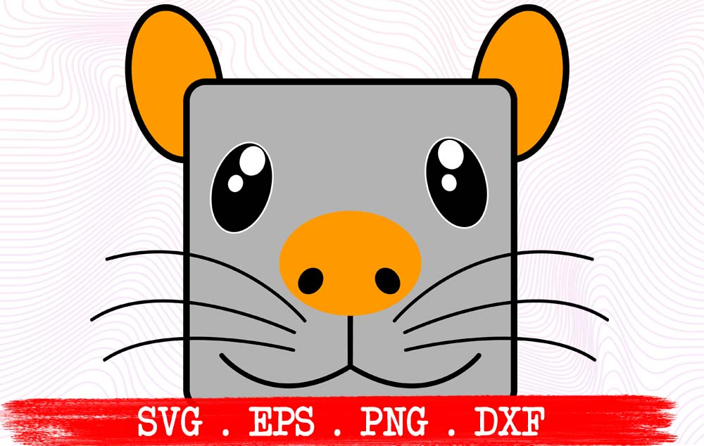 Download Free Mouse Cute Face Funny Graphic By Vikshangat Creative Fabrica for Cricut Explore, Silhouette and other cutting machines.