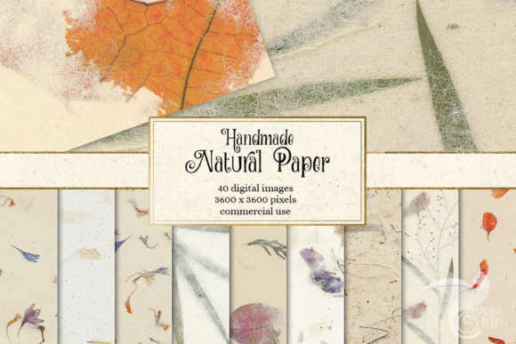 Print on Demand: Natural Handmade Paper Textures Graphic Textures By Digital Curio