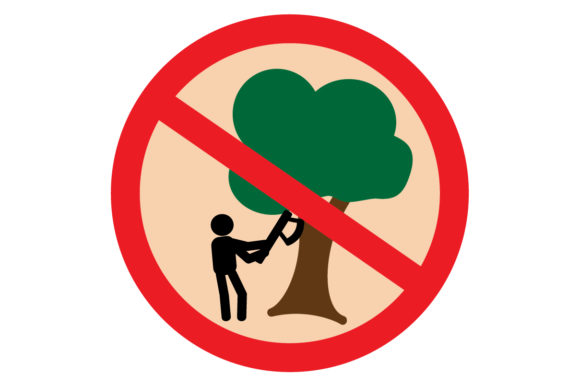 Download Free No Illegal Logging Graphic By Muhammad Riza Creative Fabrica for Cricut Explore, Silhouette and other cutting machines.