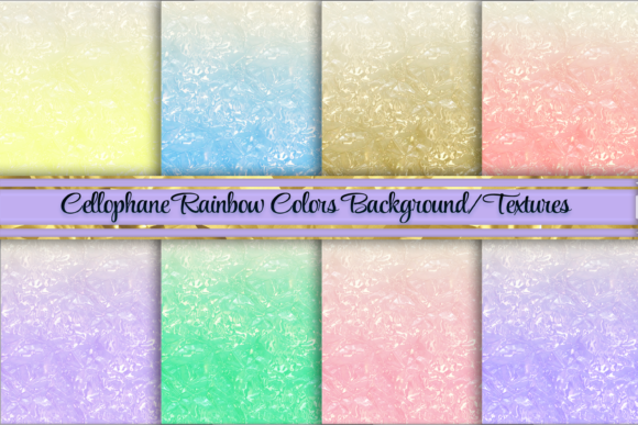 Print on Demand: Ombre Cellophane Gradient Backgrounds Graphic Backgrounds By AM Digital Designs