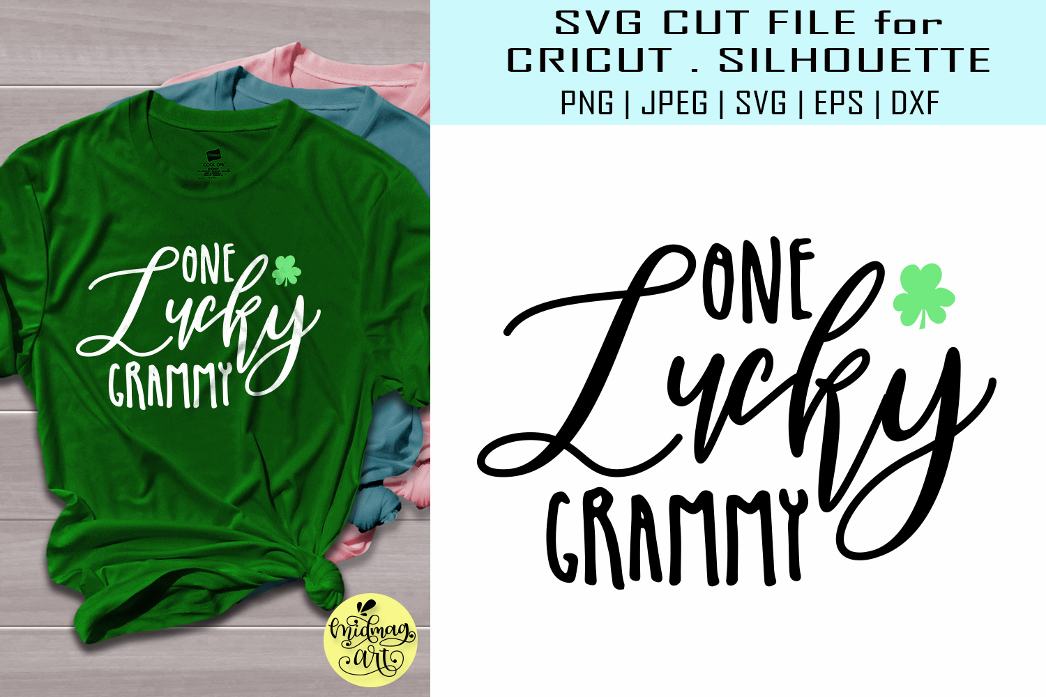 Download Free One Lucky Grammy Svg Graphic By Midmagart Creative Fabrica for Cricut Explore, Silhouette and other cutting machines.