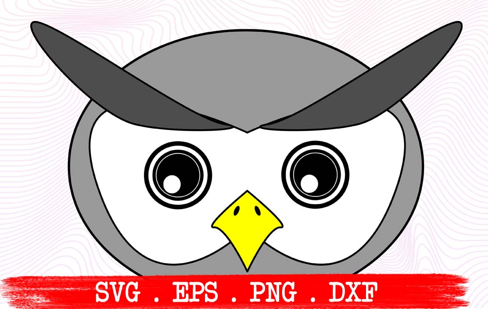 Download Free Owl Face Cute Funny Graphic By Vikshangat Creative Fabrica for Cricut Explore, Silhouette and other cutting machines.