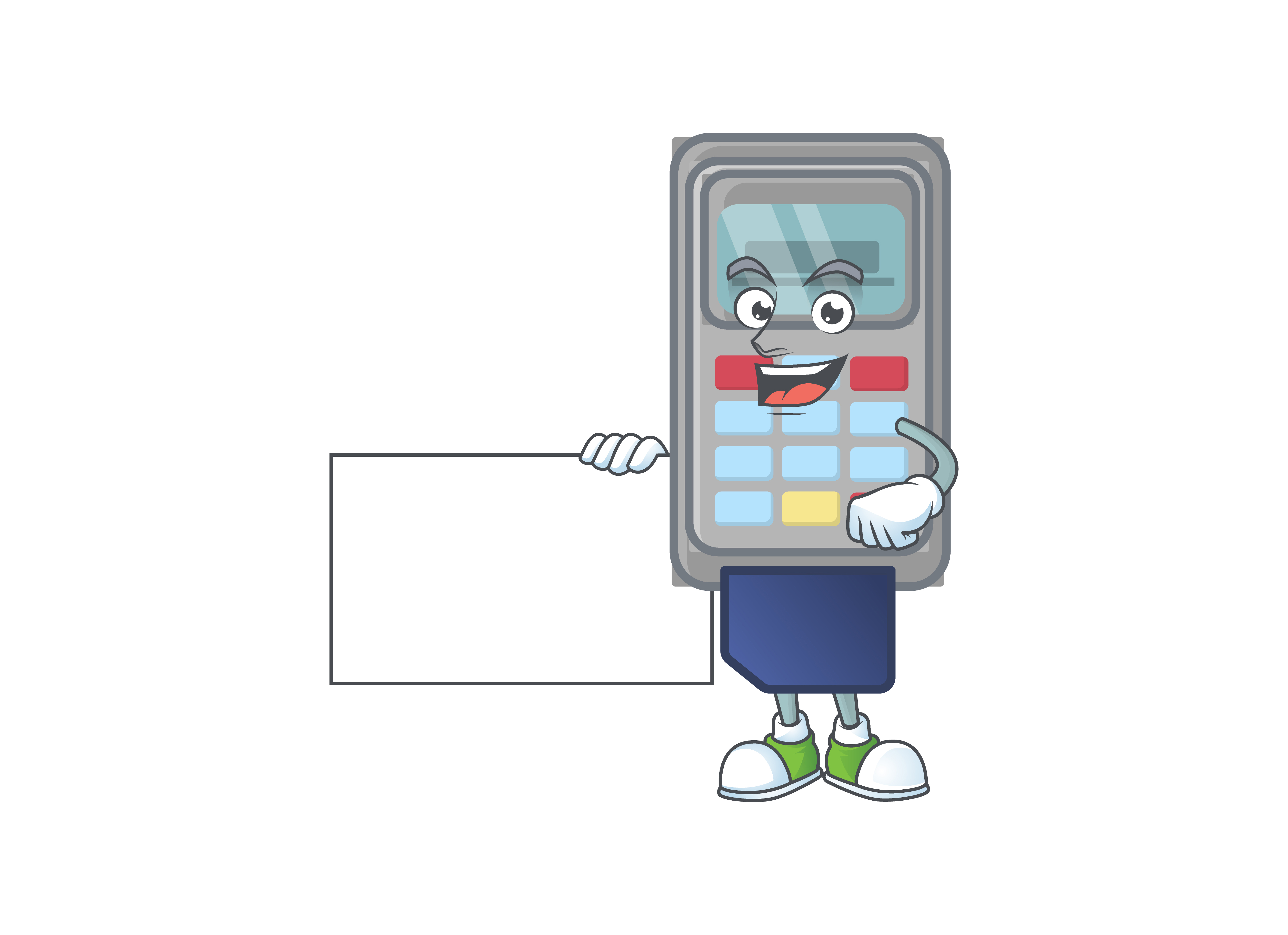 Download Free Pos Machine Cartoon Character Style Graphic By Kongvector2020 Creative Fabrica for Cricut Explore, Silhouette and other cutting machines.