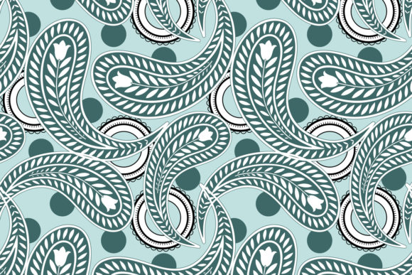 Download Free Paisley Pattern Graphic By Emikundesigns Creative Fabrica for Cricut Explore, Silhouette and other cutting machines.