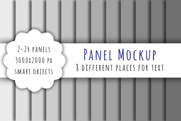Print on Demand: Panel Mockup Psd for Digital Paper Graphic Product Mockups By bunart