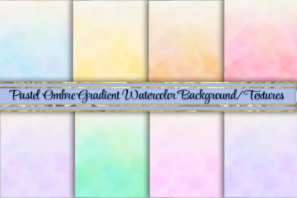 Print on Demand: Pastel Ombre Gradient Background Texture Graphic Backgrounds By AM Digital Designs