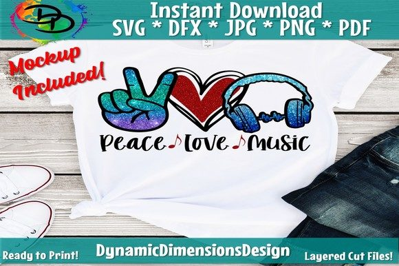 Peace Love Music Graphic Crafts By dynamicdimensions