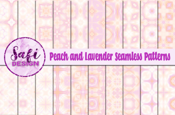Pink And Peach Patterns Graphic By Safi Designs Creative Fabrica