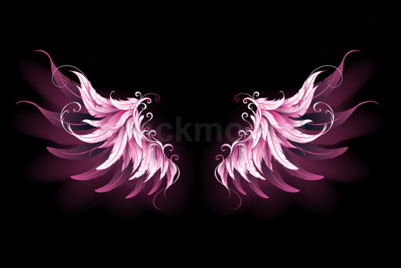 Pink Angel Wings Graphic Illustrations By Blackmoon9