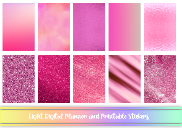 Print on Demand: Pink Digital and Printable Stickers Graphic Print Templates By AM Digital Designs
